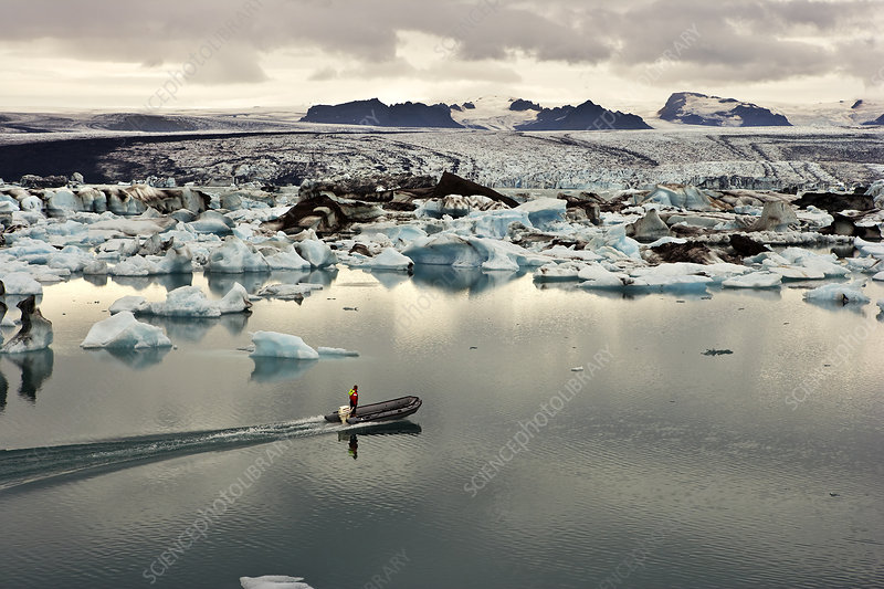 Glacial Lagoon with Icebergs