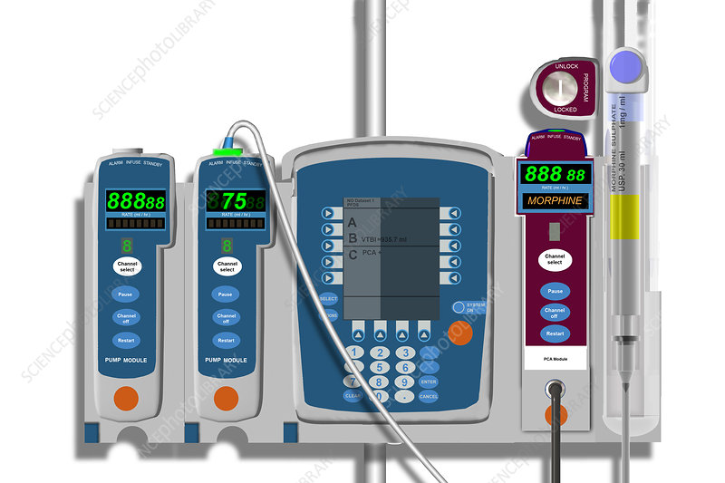 Morphine Delivery System, illustration