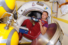 Yelena Serova, cosmonaut in the ISS