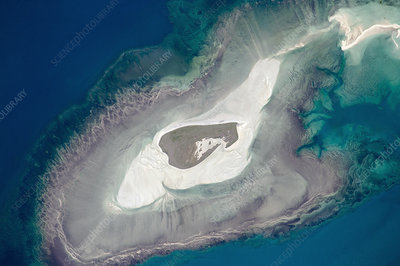 Adele Island, Australia, from space