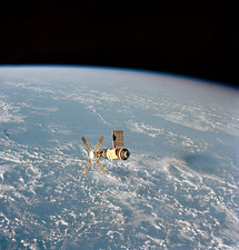 Skylab space station in orbit, 1973