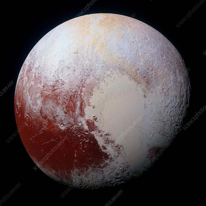 Dwarf planet Pluto, New Horizons view