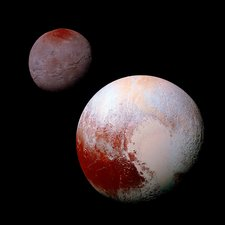 Pluto and Charon, New Horizons view