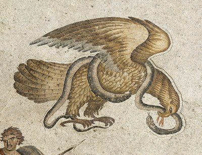 Eagle and serpent mozaic