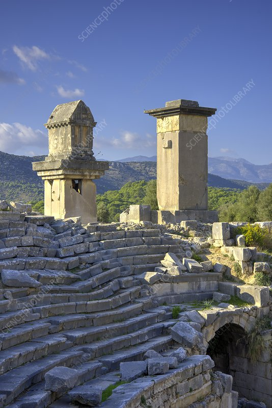 Xanthos tombs and amphitheatre
