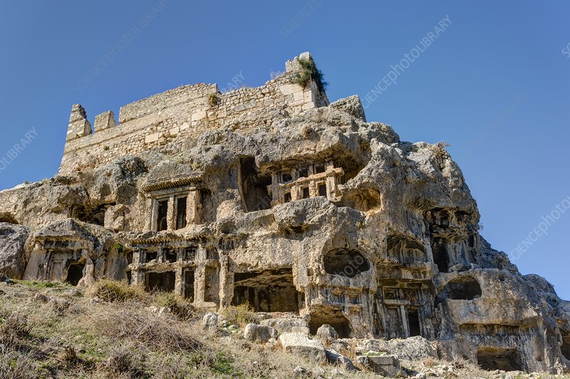 Rock cut tombs at Tlos, Turkey
