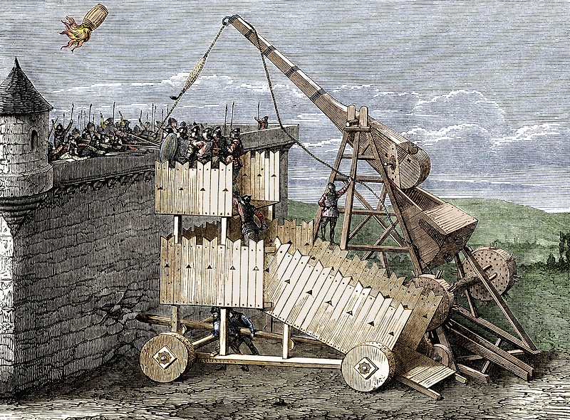 Siege with Trebuchet and Greek Fire