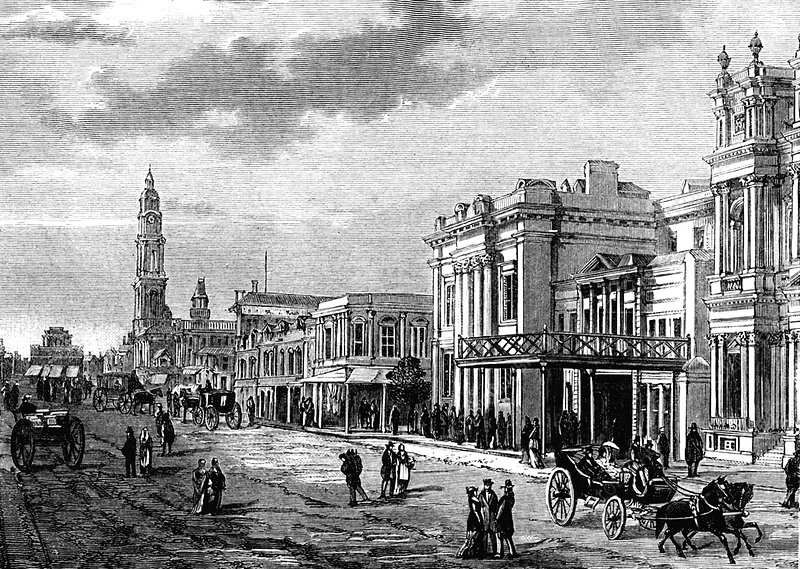 Adelaide, Australia, 19th C illustration