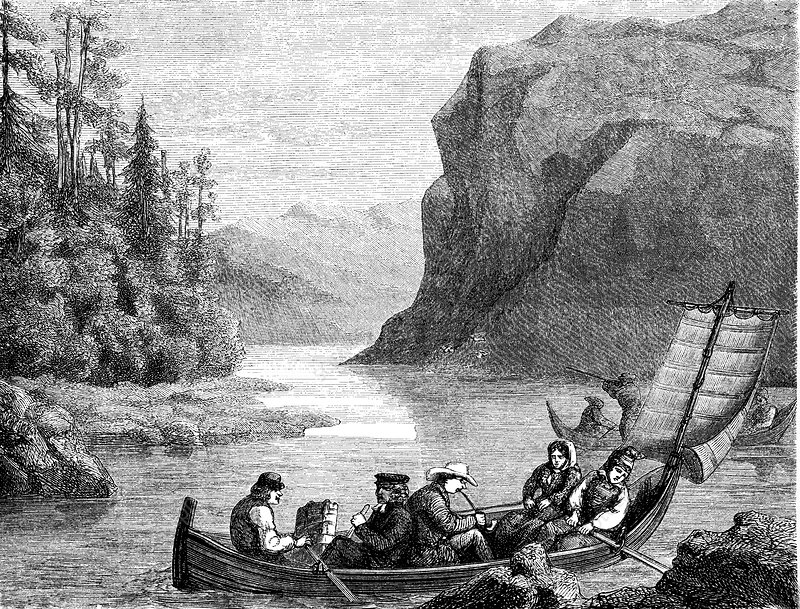 Skalka Lake, Lapland, 19th C illustration