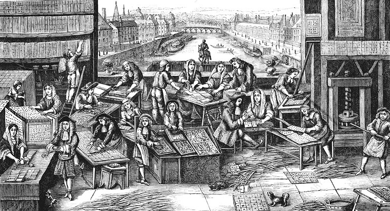 17th Century playing cards factory