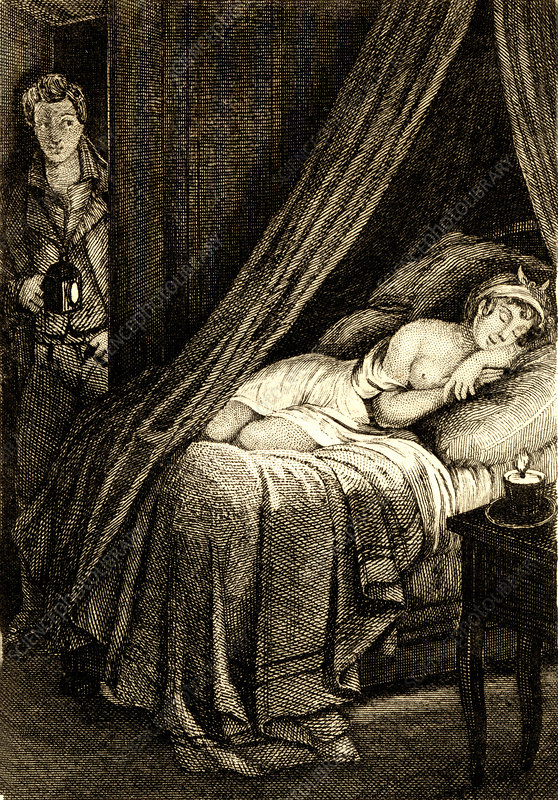 The sleep', 19th Century illustration