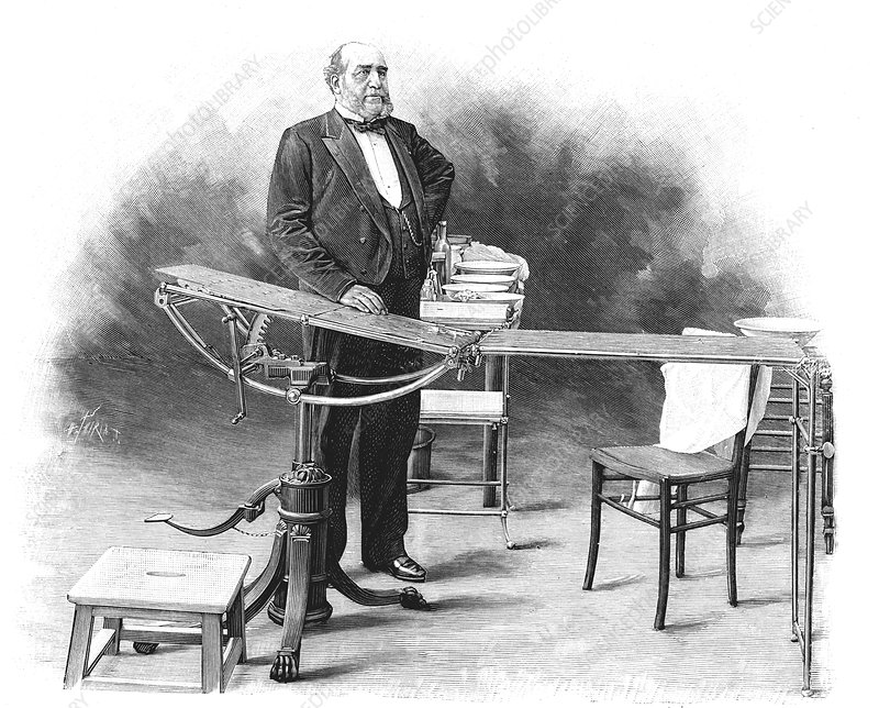 19th Century surgeon, illustration
