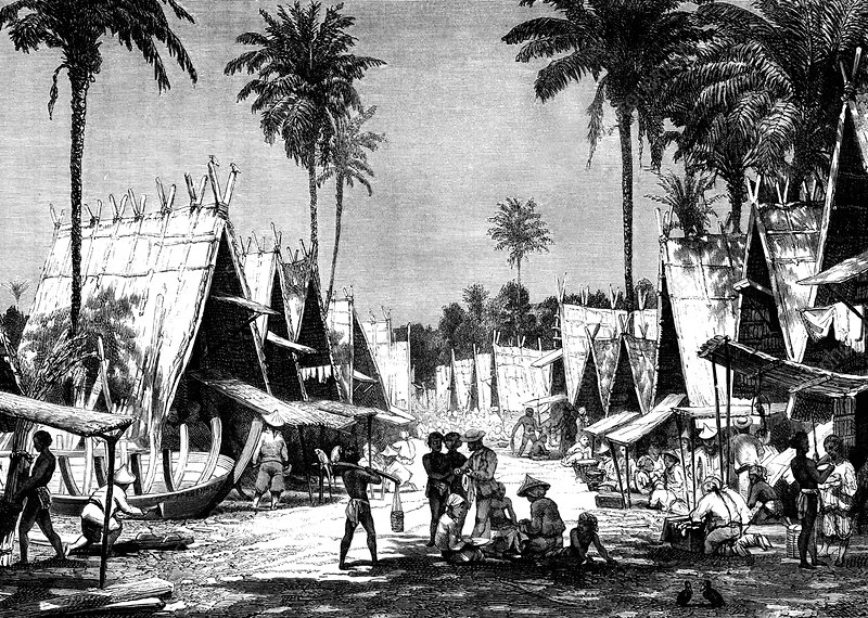 19th C Molucca Islands market