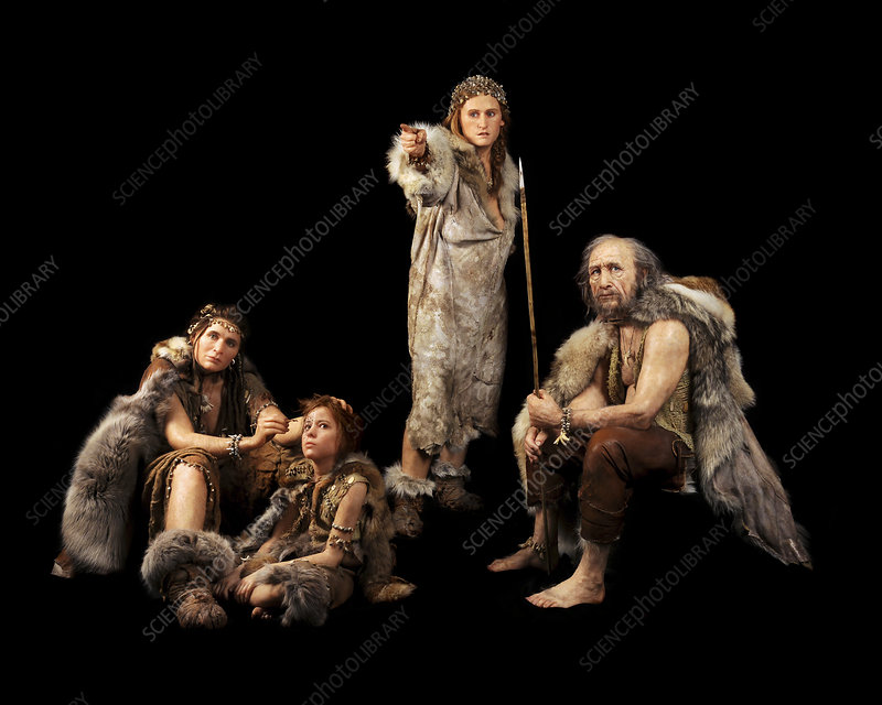 Cro-magnon people, reconstruction