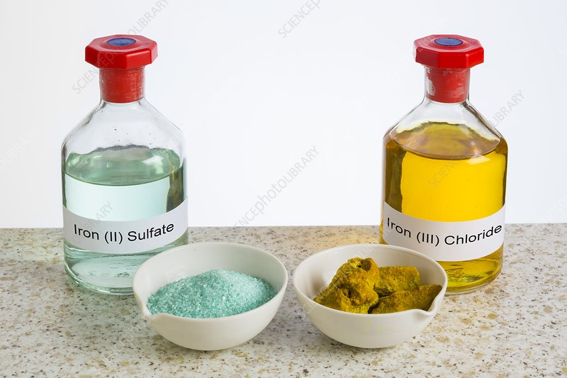 Iron salts in solid and liquid forms