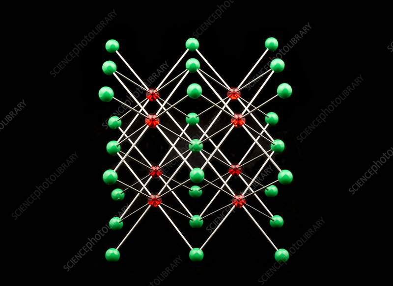 Molecular model of caesium chloride
