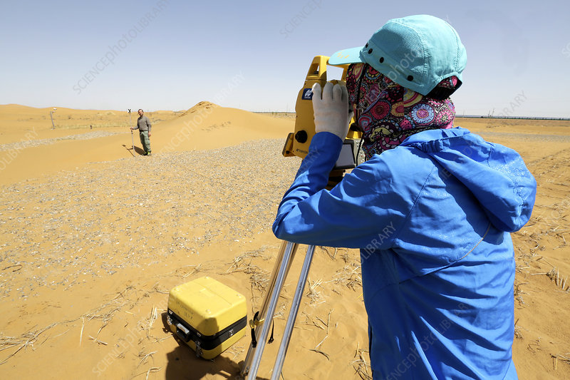 Desert surveying, China