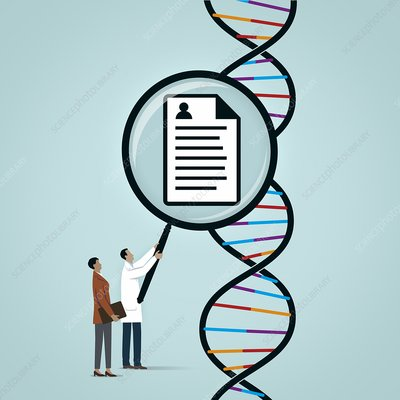 DNA profiling, conceptual illustration