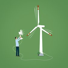 Green energy, conceptual illustration