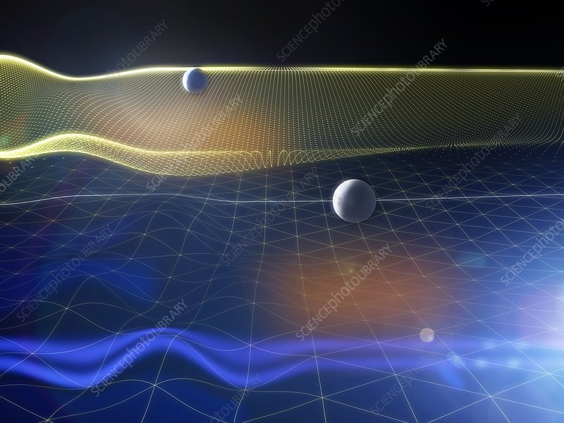 Gravitational waves and Earth, artwork