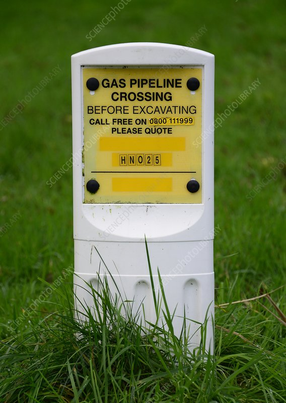 Buried gas pipeline marker