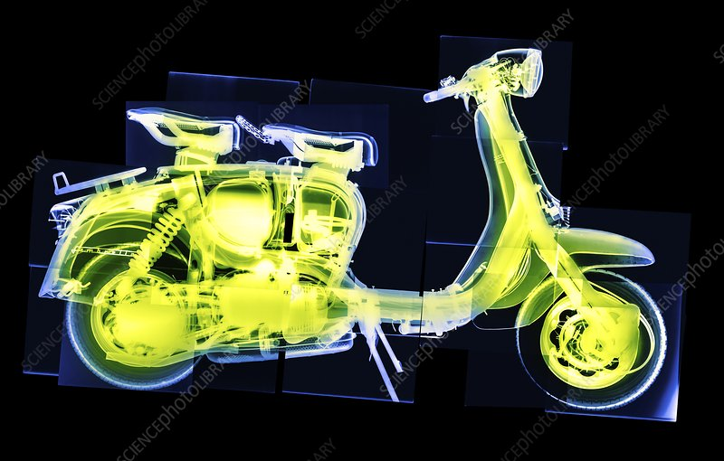Scooter headlamp, X-ray