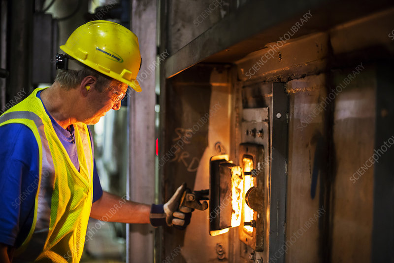 Coal-fired power station worker