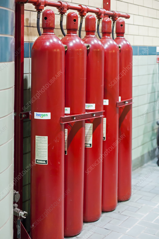 Gaseous fire suppression cylinders