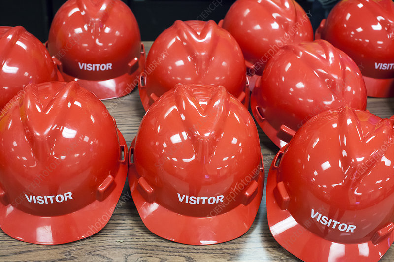 Hard hats for visitors