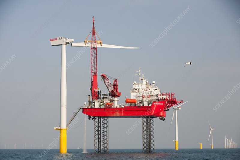 Jack up barge, Walney offshore wind farm