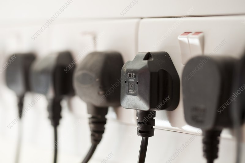 A row of electric sockets