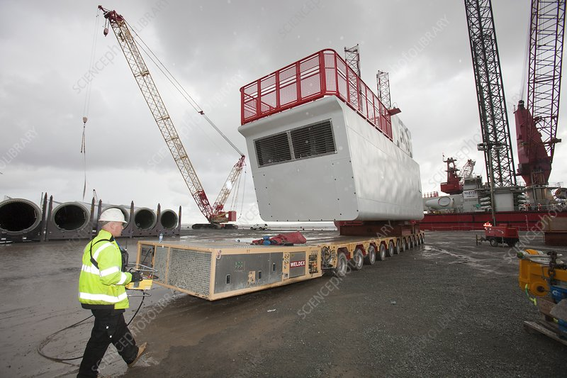 Parts for the Walney offshore wind farm