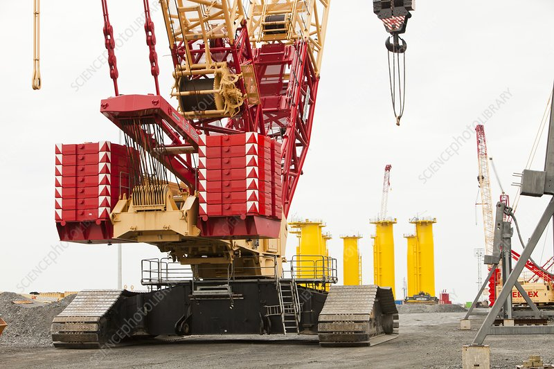 Pieces for the Walney Offshore windfarm