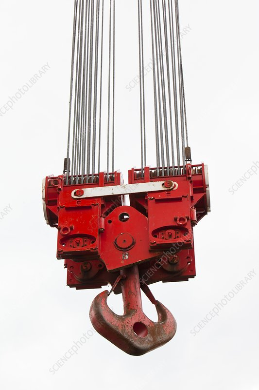 A heavy crane hook