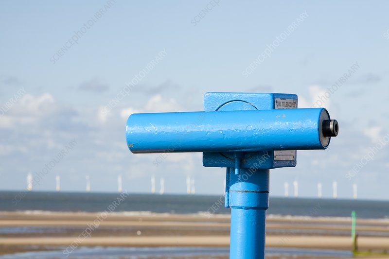 A telescope on the seafront at Rhyl