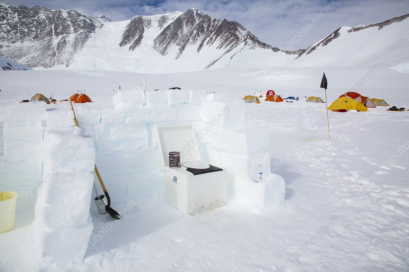 Camp toilet, Mt Vinson Camp, Antarctica