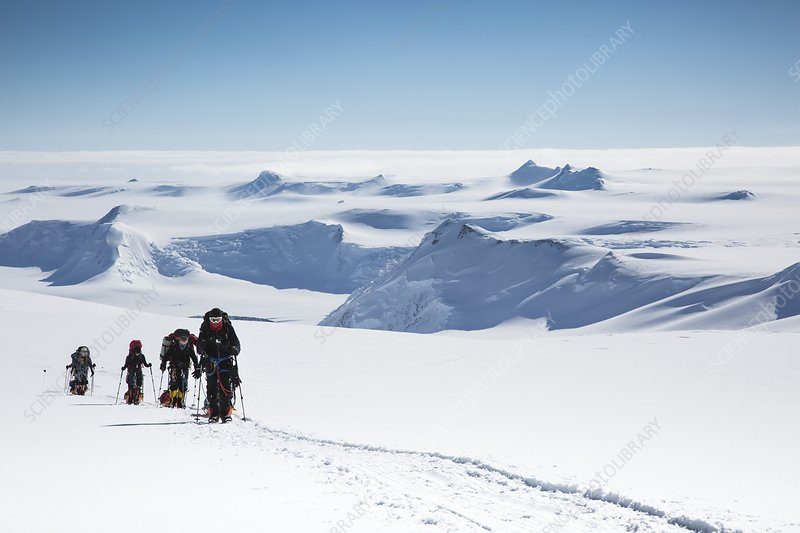 Climbers on Mt Vinson, Antarctica