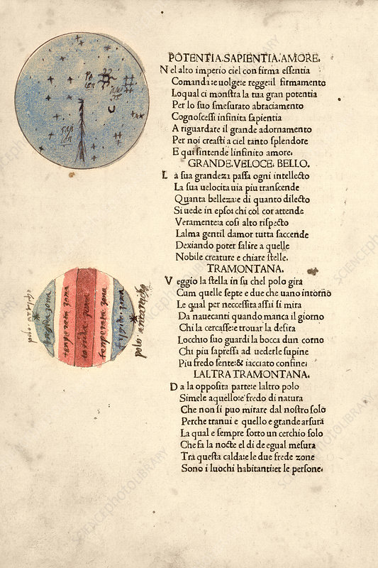 Cosmographic poem, 15th century