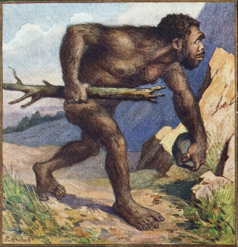 1910 Earliest colour neanderthal print