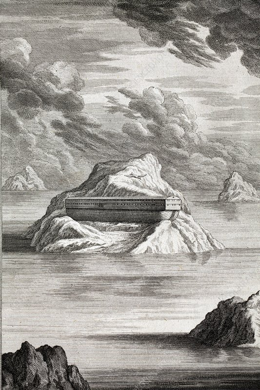 1731 Noahs ark arc on Mt. Carmel
