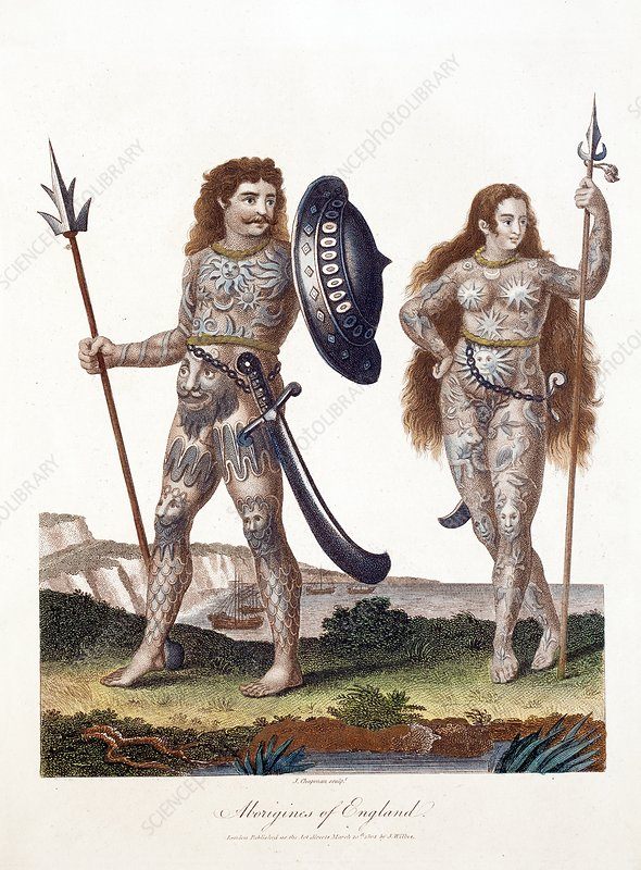 Ancient Britons, 19th-century artwork
