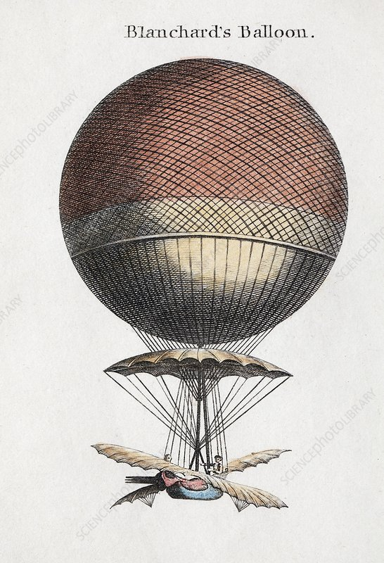 Blanchard balloon flight, 1793