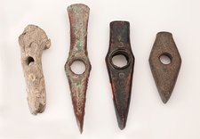 Prehistoric axes of different materials