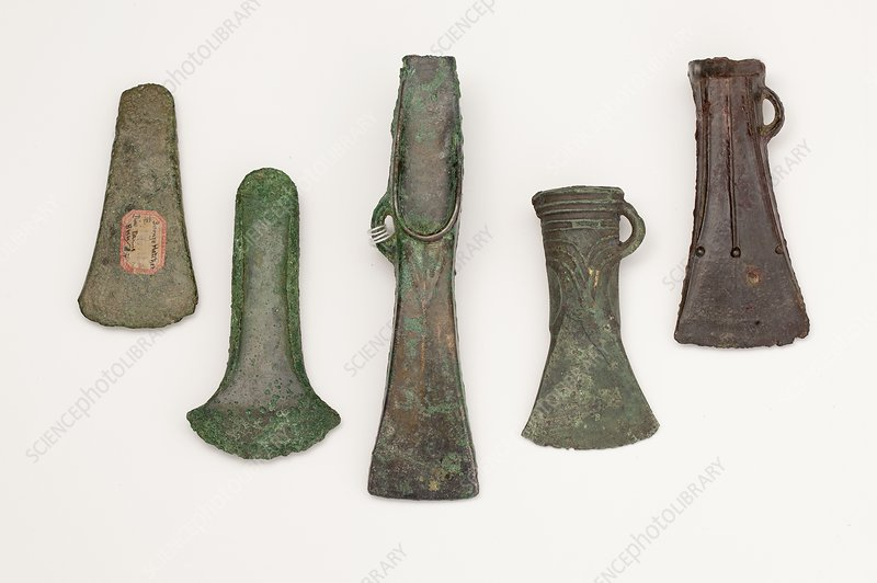 European axes, Early to Late Bronze Age