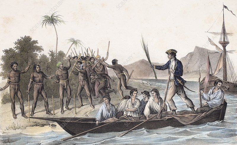 Cook landing in the New Hebrides, 1774