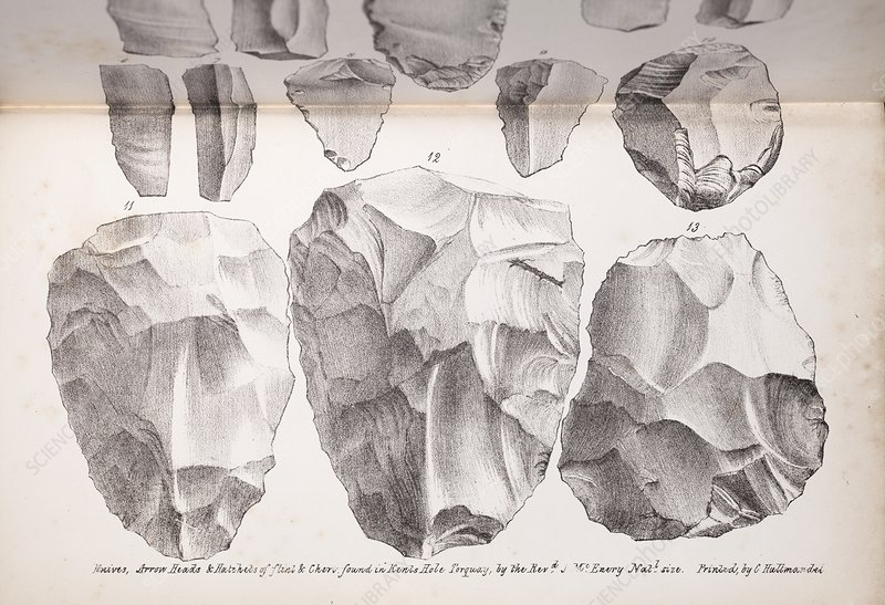 Kents Cavern stone tools, 1825