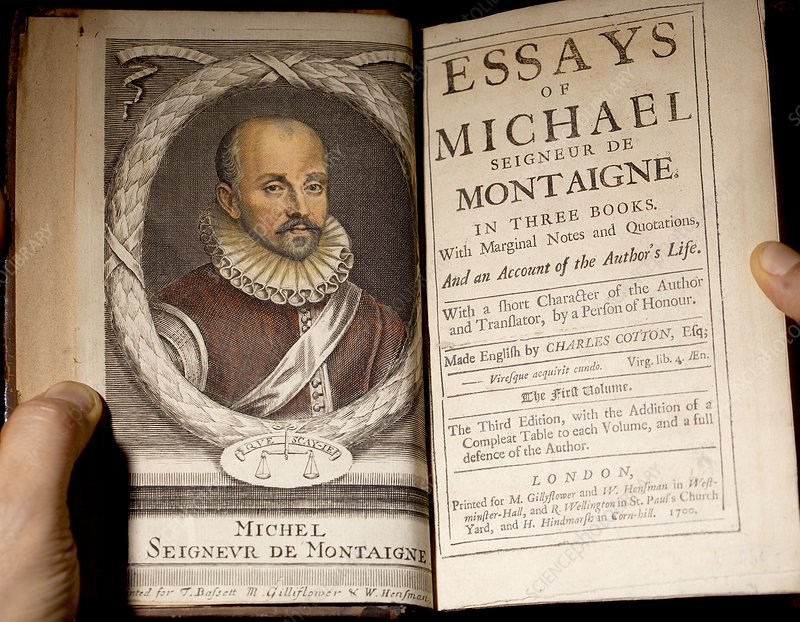 1700 Michel de Montaigne Essays portrait