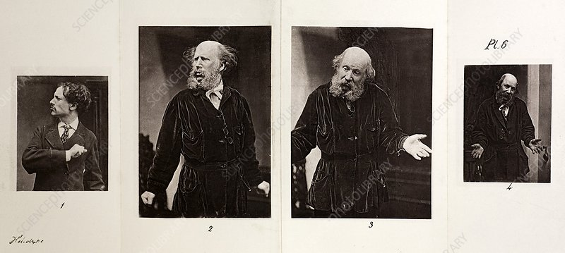 1872 Darwin Emotions Indignant Heliotype