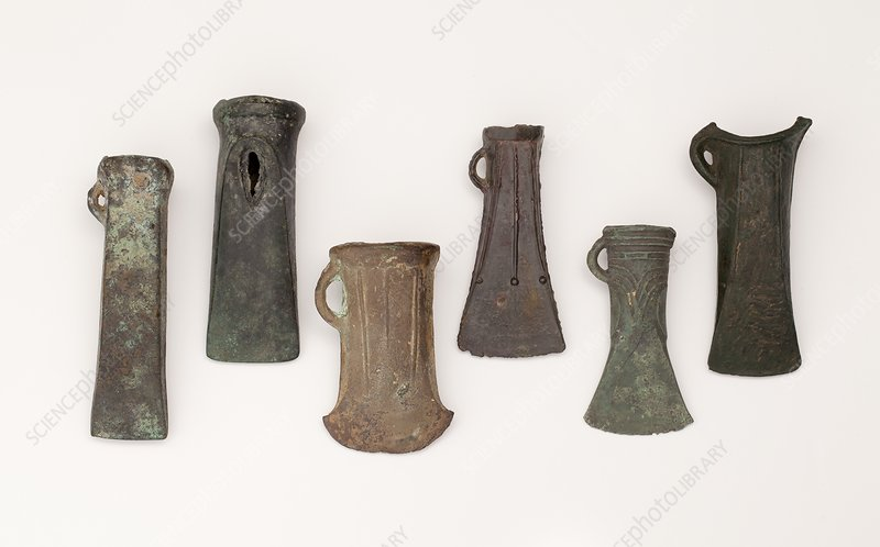 Examples of late bronze age socketed axes