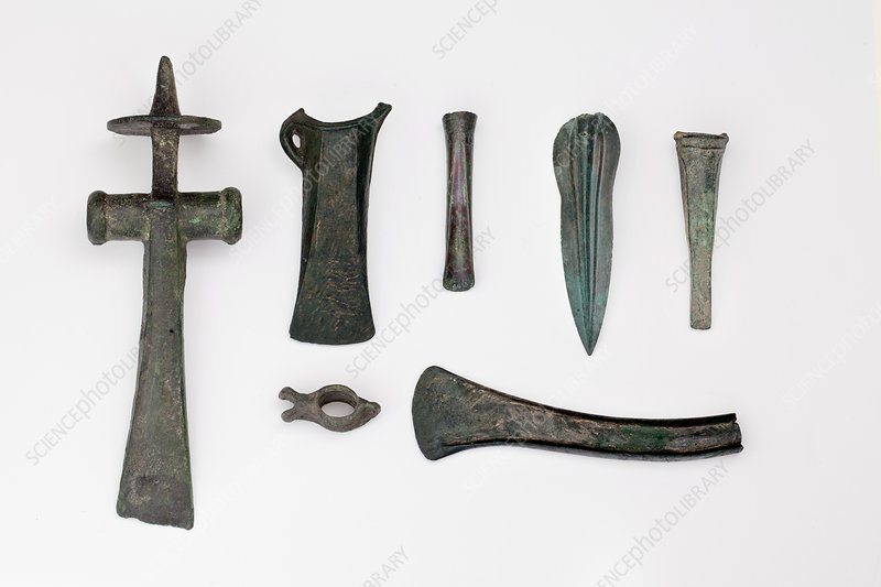 Variety among bronze age tools